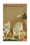 Medieval Illusttration  Adam and Eve