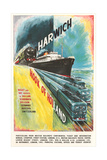 Harwich to Hook of Holland Travel Poster