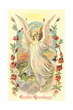 Greetings  Angel Amid Roses
