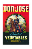 Don Jose Vegetables Label