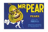 Mr Pear Label