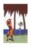Golfing Amid Palm Trees
