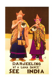 India Travel Poster  Darjeeling