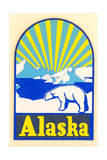 Alaska Decal  Polar Bear