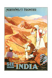 India Travel Poster  Northwest Frontier