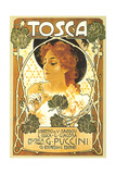 Art Nouveau Poster for Tosca