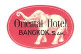 Oriental Hotel  Bangkok  Siam