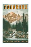 Colorado Travel Poster Reproduction d'art