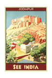 India Travel Poster  Jodhpur
