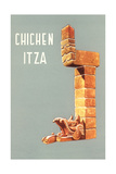 Chichen Itza  Mexican Travel Poster