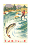 Travel Poster Hailey  Trout Fishing