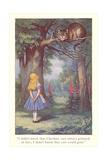 Alice in Wonderland, Cheshire Cat Reproduction d'art