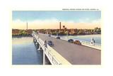 Memorial Bridge over Fox River  Aurora