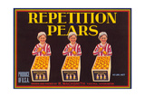 Repetition Pear Label