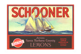 Schooner Lemon Label