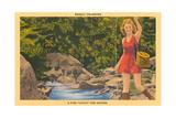 Woman Fishing  Basalt