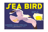 Sea Bird Lemon Label