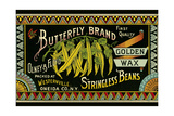 Butterfly Stringbeans Seed Packet
