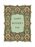 Happy Mother's Day  Leafy Flowery Frame