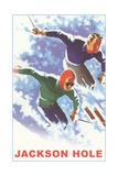 Skiers  Jackson Hole