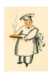 Chef with Steaming Pie