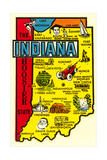 Indiana Map Decal
