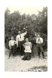 Family with Grapefruit Tree