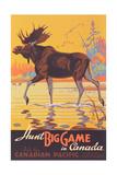 Canada Travel Poster, Moose Reproduction d'art