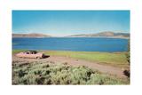 Big Fifties Car by Lake