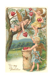 Cupids Picking Hearts