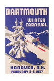 Poster for Dartmouth Winter Carnival Reproduction d'art