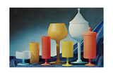 Colorful Frosted Glass Vessels
