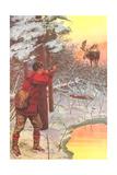 Man Shooting Moose