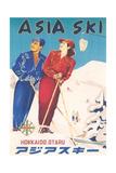 Asia Ski Travel Poster
