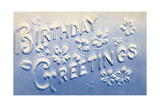 Embossed Birthday Greetings