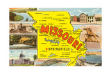 Missouri Scenes and Map