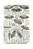 Umbrellas in Sears Roebuck Catalog