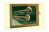 Two Trombones in Frame