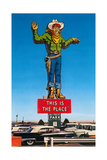 Giant Cowboy Sign