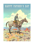 Happy Father's Day  Man on Horse