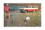 Hunting from Old Station Wagon