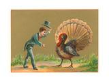 Boy Greeting Turkey