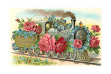 Birthday Greetings  Rose Train
