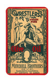 Wrestlers Olive Oil Label