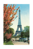 Eiffel Tower  Peach Blossoms