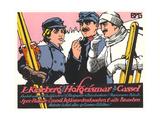 German Skiers Smoking