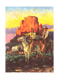 Cowboy  Indian  Covered Wagons