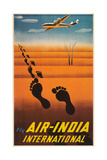 Air India Travel Poster