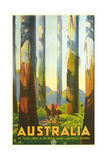Australia Travel Poster  Trees