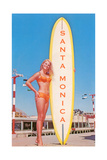 Santa Monica  Surfer Girl